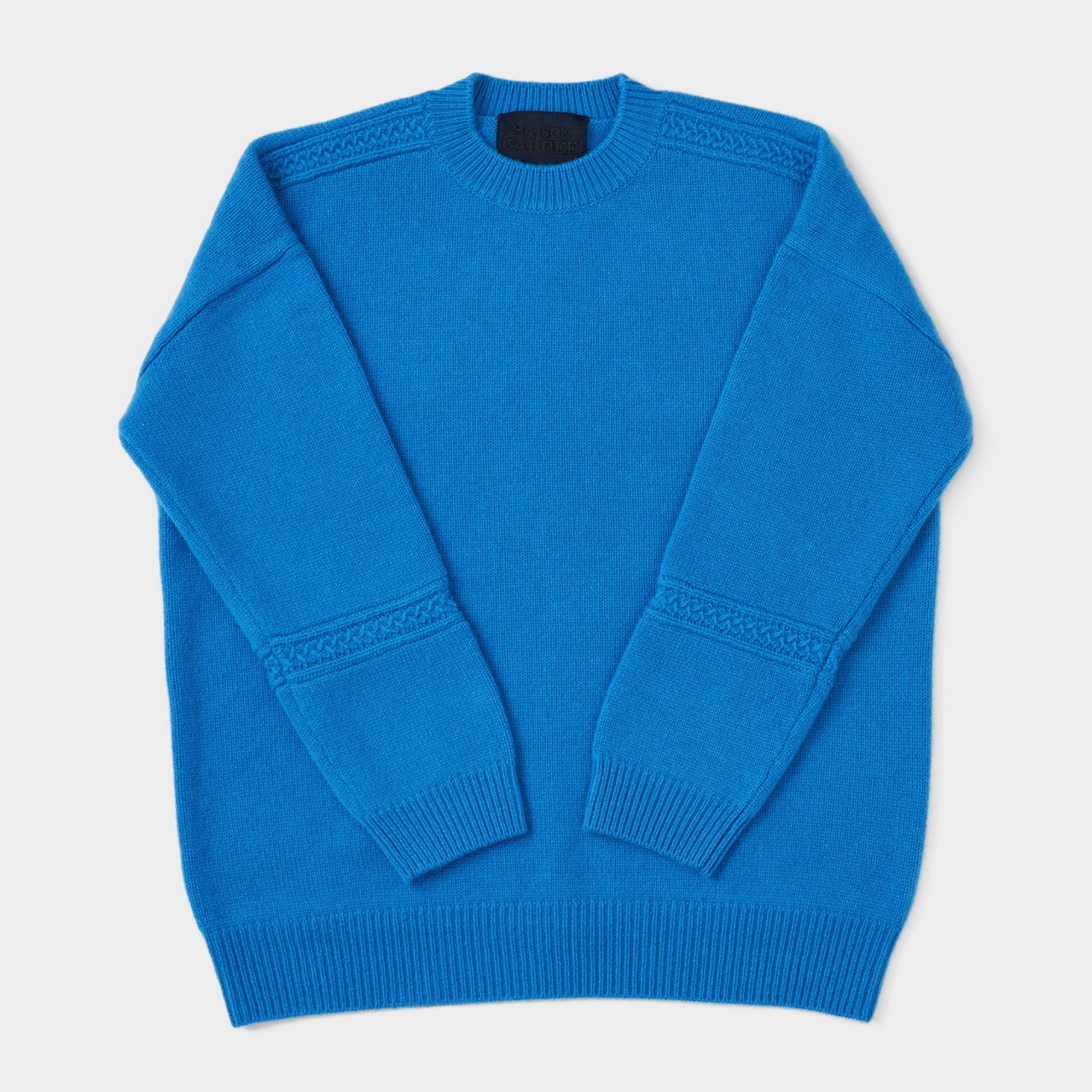 CASHMERE CABLE KNIT<BR>TURQUOIS