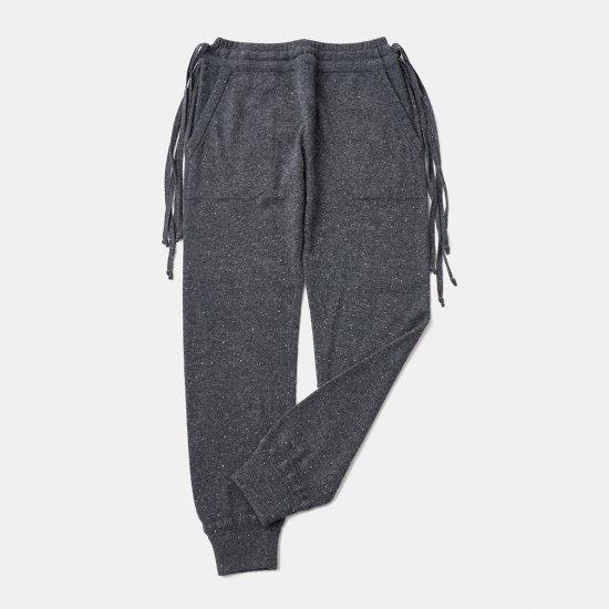 CASHMERE STARDUST BoyFriend PANTS<BR>CHARCOAL
