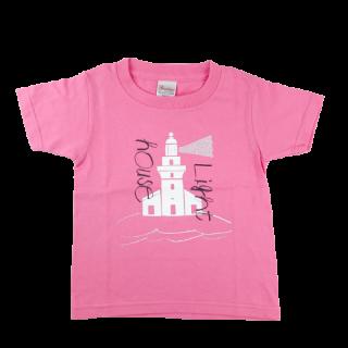 灯台Tシャツ ピンク