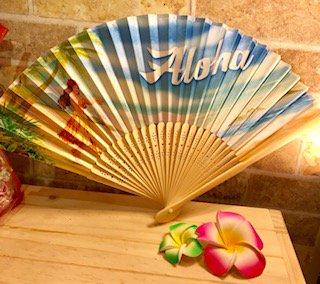 Hawaii☆扇子(Tropical Paradise Fan)
