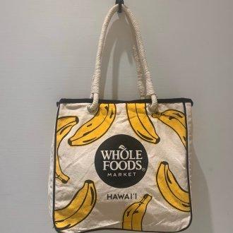 WHOLE FOODS トートバック バナナ柄