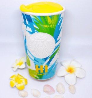 Sterbucks ハワイアンボタニカル柄陶器のタンブラー