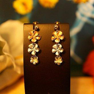 【Hawaiian Jewelry】 14金 プルメリア 【ピアス】