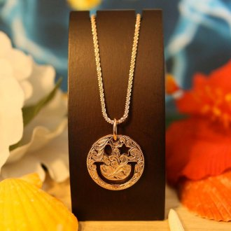 【Hawaiian Jewelry】 サージカルステンレス スマイル  ピンクゴールド