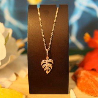 【Hawaiian Jewelry】 サージカルステンレス モンステラ
