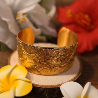 【Hawaiian Jewelry】サージカルステンレス ビッグバングル