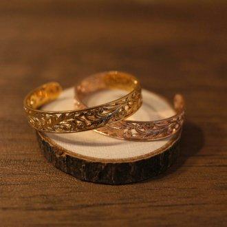 【Hawaiian Jewelry】サージカルステンレス 3Dスペースカッティングバングル