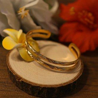 【Hawaiian Jewelry】サージカルステンレス パラレルバングル
