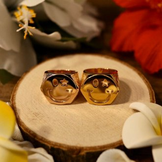 【Hawaiian Jewelry】サージカルステンレス スマイルリング