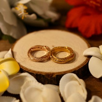 【Hawaiian Jewelry】サージカルステンレス トリプルリング