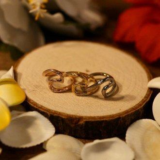 【Hawaiian Jewelry】サージカルステンレス ウェーブリング