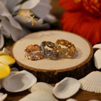 【Hawaiian Jewelry】サージカルステンレス スペースカッティングリング