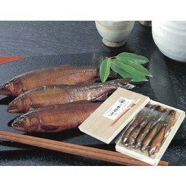 子持ち鮎の甘露煮5尾、鮎の甘露煮5尾<大>桐箱入り(565グラム/10尾入り)