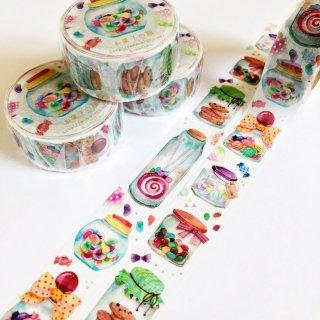 お菓子の瓶マスキングテープ
