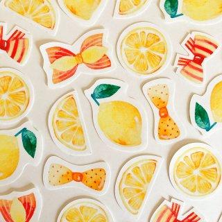 レモンとリボン フレークシール