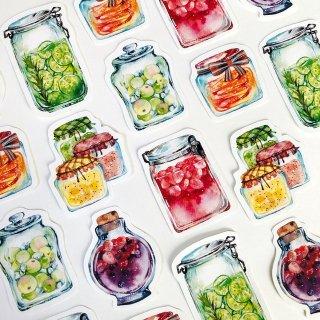 果実の瓶 フレークシール