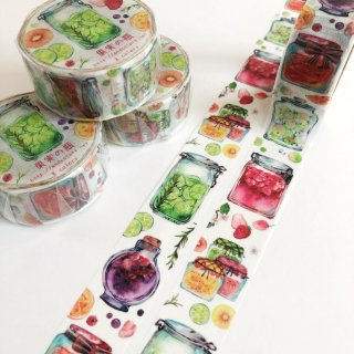 果実の瓶マスキングテープ