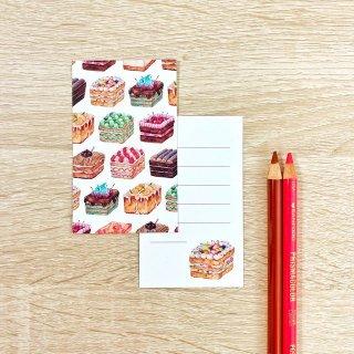 スクエアケーキ メッセージカード