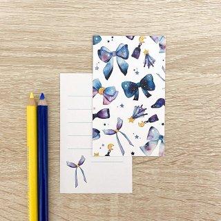 星空リボン メッセージカード