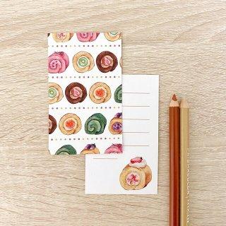 ロールケーキ メッセージカード