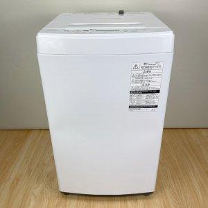 【高年式2019年】 TOSHIBA AW-45M7(W) 洗濯機 ホワイト【中古】