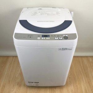 シャープ SHARP ES-GE55R-H [全自動洗濯機(5.5kg) 2016年 グレー系]【中古】