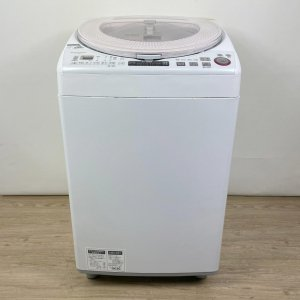 SHARP ES-TX850-P 全自動電気洗濯機 8.0kg 2015年 ホワイト【中古】