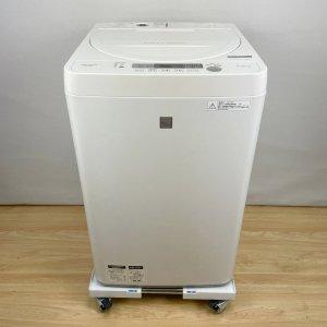 シャープ SHARP ES-G4E5-KW 全自動洗濯機(4.5kg) 2017年【中古】