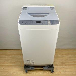 シャープ SHARP ES-TX550-A 洗濯機 2016年 ホワイト【中古】