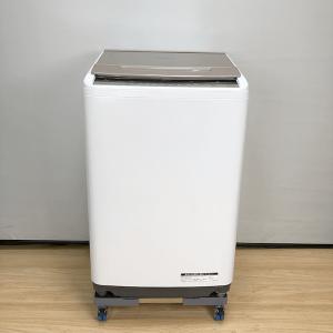 日立 HITACHI BW-V80C 全自動電気洗濯機 8.0kg 2018年 ホワイト【中古】