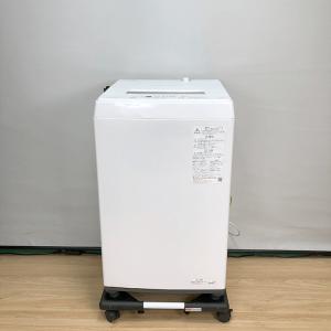 東芝 TOSHIBA AW-45M9 [全自動洗濯機(4.5kg) 2021年 ホワイト系]【中古】