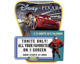 ディズニー・ピクサー 2014年ダイカットカレンダー PIXAR