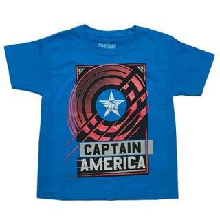 マーベル キャプテン・アメリカ シビル・ウォー キッズTシャツ ブルー MARVEL