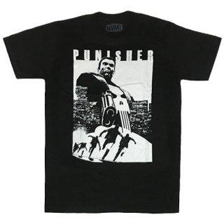マーベル パニッシャー Try & Run Tシャツ Punisher MARVEL