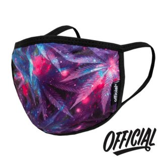 OFFICIAL Crown of Laurel Face Mask Space Weed Purple ファッション 布マスク スペースウィードパープル オフィシャル