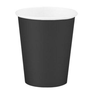 amscan 9oz ペーパーカップ 8個セット ブラック 紙コップ ホームパーティー