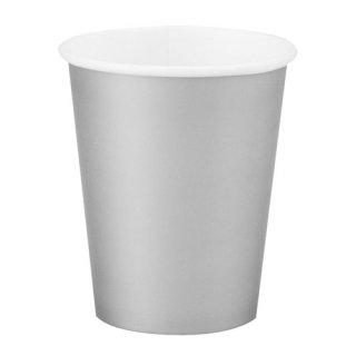 amscan 9oz ペーパーカップ 8個セット シルバー 紙コップ ホームパーティー