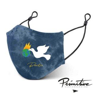 PRIMITIVE Healer MASK BLUE Tie-Dye フェイスマスク ヒーラー ブルー タイダイ ファッション プリミティブ アルミ製ノーズブリッジ