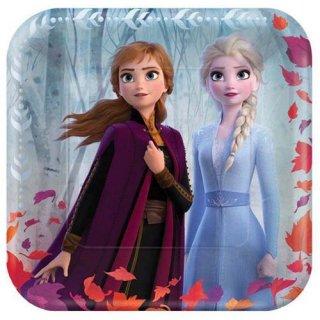 ディズニー アナと雪の女王2 8PCペーパープレート Mサイズ 紙皿 メタリック DISNEY
