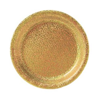 amscan プリズマティック ゴールド 8PCペーパープレート Sサイズ 紙皿 ホームパーティー