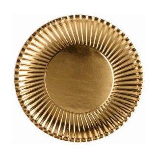 ゴールド デザート 10PCペーパープレート Sサイズ 紙皿 ホームパーティー