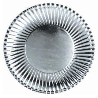 シルバー ランチ 10PCペーパープレート Mサイズ 紙皿 ホームパーティー