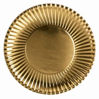 ゴールド ランチ 10PCペーパープレート Mサイズ 紙皿 ホームパーティー