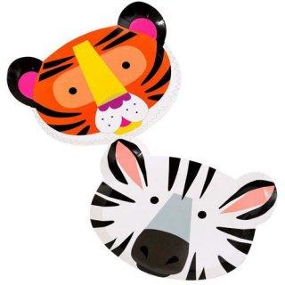 アニマルシェイプ 12PCアソートペーパープレート 紙皿 Animals Shaped ホームパーティー