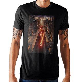 DCコミック ザ・フラッシュ Running Through The City Tシャツ FLASH DC COMICS