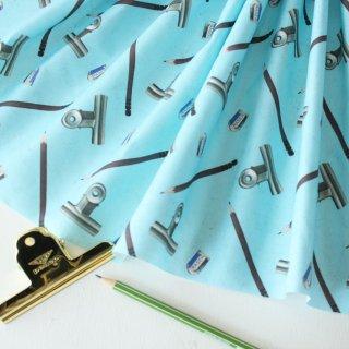 鉛筆とクリップ(ブルー)