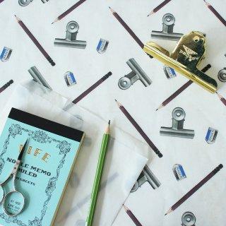 鉛筆とクリップ(ホワイト)