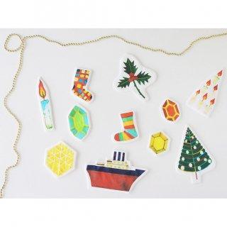 クリスマスオーナメントキット:福田利之(B)冬の小物たち