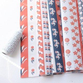 flower stripe -May-(オレンジネイビー)