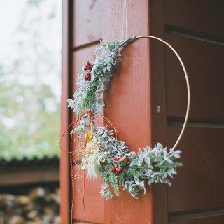 クリスマスリース:草原のリース